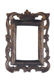 Old dark wooden picture frame Stock Photo