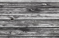 Old dark wooden table surface Royalty Free Stock Photo