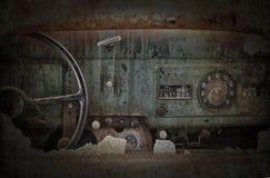 Old Dashboard Stock Photo