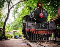 Old Death Railway lomocotive in Nam Tok Stock Images