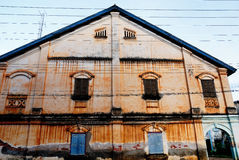 Old decadent house. At Laos Royalty Free Stock Photos