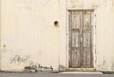 Old decayed wooden door Royalty Free Stock Image