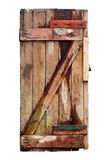Old decayed wooden door. Isolated Royalty Free Stock Images