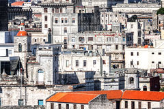 Old decaying buildings in Havana. Grunge image of old decaying buildings in Havana Stock Images