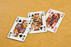 Old deck of cards Stock Image