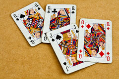 Old deck of cards Royalty Free Stock Images