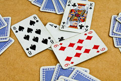 Old deck of cards Stock Images
