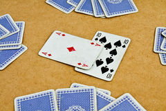 Old deck of cards Royalty Free Stock Photo