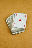 Old deck of cards Stock Photo
