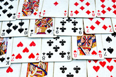 Old deck of cards Royalty Free Stock Photos