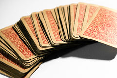 Old deck of distressed picture playing cards Stock Photography