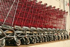 Old Decommissioned Grocery Carts Royalty Free Stock Images