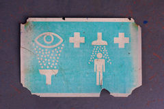 Old Decontamination Sign Royalty Free Stock Photo