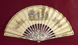 Old decorated hand fan bis Royalty Free Stock Image