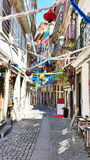 Old decorated street in Porto Portugal Stock Photo