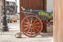 Old decorated wagon Royalty Free Stock Photography