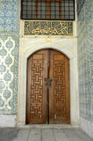 Old decorated wooden doors Stock Photography