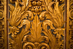 Old decoration in gold Royalty Free Stock Image