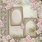 Old decorative album cover Stock Photo