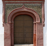 Old, decorative Arabic gate. Andalusia. Spain. In Spain one can find many traces of Arabian culture. One of them are these beautifully decorated gates placed in Royalty Free Stock Photography