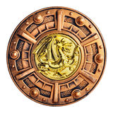 Old decorative bronze shield Royalty Free Stock Photography