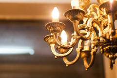 Old decorative chandelier Stock Images