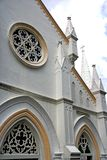 Old decorative church facade Royalty Free Stock Images