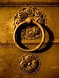 Old decorative door handle Stock Photos