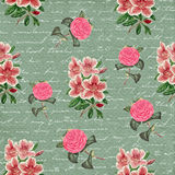 Old decorative floral pattern background Stock Image