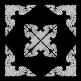 Old decorative frame - handmade, engraved - isolated on black  b. The old decorative frame - handmade, engraved - isolated on black  background Stock Photos