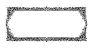 Old decorative frame - handmade, engraved - isolated on white ba. Ckground Royalty Free Stock Photography