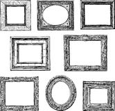 Old decorative frames Royalty Free Stock Photo