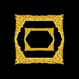 Old decorative gold frame - handmade, engraved - isolated on bla. Ck background Stock Photography