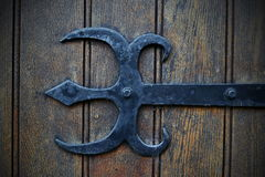 Old Decorative Iron Hinge Mount Stock Images
