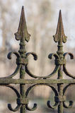 Old decorative rusted wrought-iron fence Royalty Free Stock Photography
