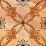 Old decorative sandstone tile background patterns Stock Photo