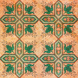 Old decorative sandstone tile background Royalty Free Stock Image