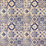 Old decorative sandstone tile background patterns in the park Stock Images