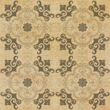 Old decorative sandstone tile background patterns in the park Stock Photography