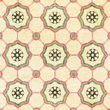 Old decorative sandstone tile background patterns Stock Image
