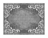 Old decorative silver frame Royalty Free Stock Photography