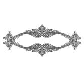 Old decorative silver frame isolated on white Royalty Free Stock Photo