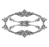 Old decorative silver frame isolated on white. Background Stock Images