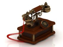 Old decorative telephone Stock Photos