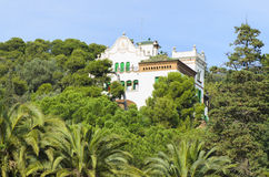Casa Trias, Barcelona. Old decorative villa in Park Guell, Barcelona. Modernist architecture stock photography
