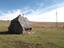 The Old,decrepit,abandon wooden cottage. The Old,decrepit,abandon wooden  cottage Stock Photos