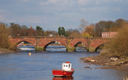 Old Dee Bridge Stock Images