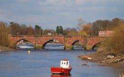 Old Dee Bridge. Roman bridge across the River Dee in Chester UK Stock Images