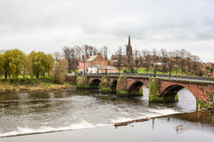 Old Dee Bridge, Chester. Old dee bridge, spanning the river Dee in Chester, Uk royalty free stock images