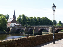 The Old Dee bridge in Chester UK Stock Image